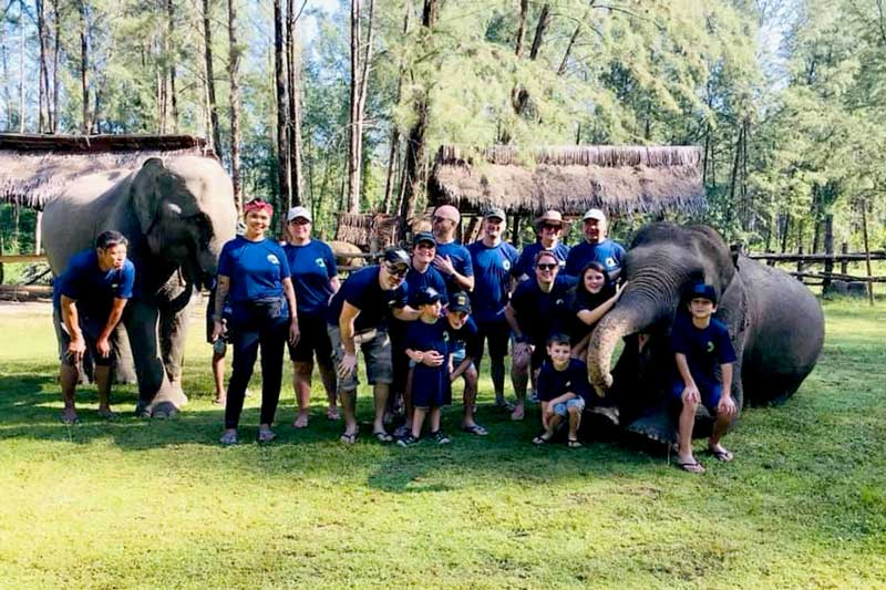 Elephant care team